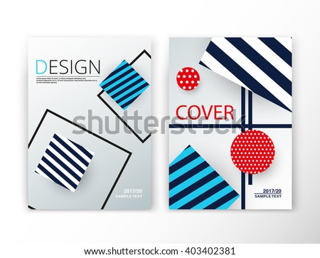 Abstract composition. Blue striped construction font texture. Box block section surface. A4 brochure title sheet set. Creative figure vector art. Commercial offer collection. Banner form. Flyer fiber - stock vector