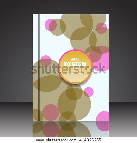 Abstract composition brochure background A4 eps10 vector illustration 33 - stock vector