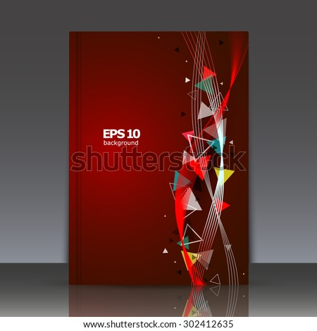 Abstract composition, brochure, wave background, EPS10 vector illustration, book cover, triangles - stock vector