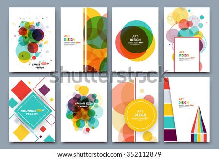 Abstract composition, business card set, correspondence letter collection, a4 brochure title sheet, certificate, diploma, patent, charter, creative text frame surface, figure logo icon backdrop, EPS10 - stock vector