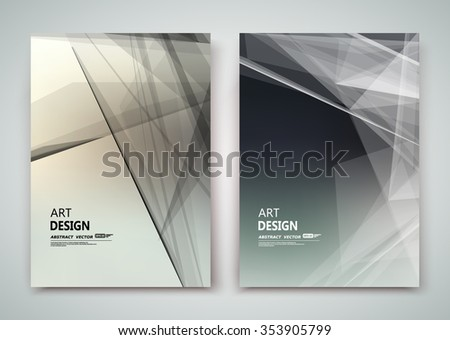 Abstract composition, business card set, polygonal light image, certificate collection, a4 brochure title sheet, diploma, patent, charter, creative text frame surface, figure logo icon backdrop, EPS10 - stock vector