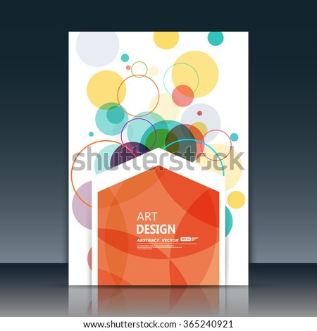 Abstract composition, circle part construction, red polygonal pentagon text surface, white a4 brochure title sheet, creative figure icon, logo sign, firm banner form, flier fashion, EPS10 illustration - stock vector
