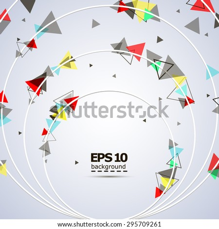 Abstract composition, circles with triangles, background | EPS10 vector illustration - stock vector