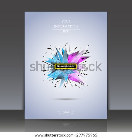 Abstract composition, explosion, lines, Brochures, background, EPS 10 vector illustrations - stock vector