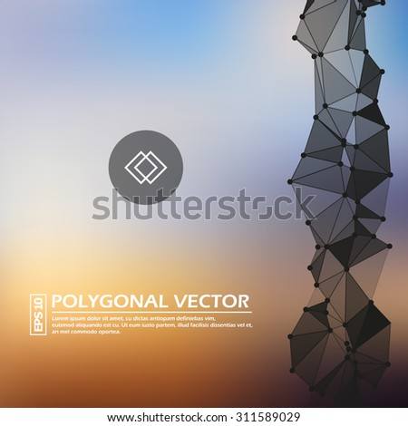 Abstract composition, formal paper sheet, morning sky color background, logo construction, official letter template, brochure blank, company sign, trade symbol, mark model, EPS 10 vector illustration - stock vector