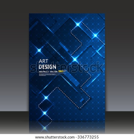 Abstract composition, glory cables and wires, shiny microcircuit, a4 brochure title sheet, digital technology backdrop, techno microscheme, computer chip, electronic engineering caption, EPS 10 vector - stock vector