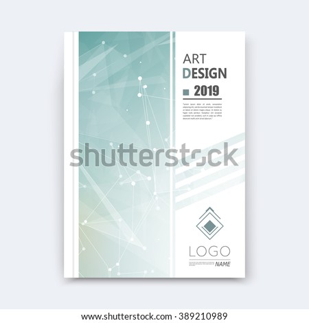 Abstract composition, grey polygonal stripe font texture, square part construction, white a4 brochure title sheet, creative figure icon, commercial logo surface, firm banner form, EPS 10 flier fiber - stock vector