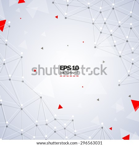 Abstract composition, lines, triangles, geometric pattern, triangles, background | EPS10 vector illustration, dots and lines - stock vector