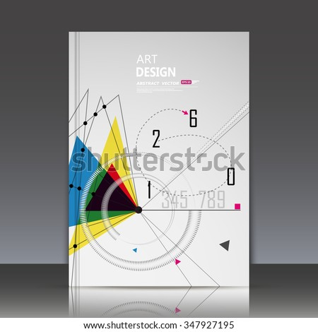 Abstract composition, math technology, happy new year eve banner icon, 2016 digit greeting card, white arithmetic backdrop, round spiral, dotted curve line, triangle, light font, arabic cipher, EPS10 - stock vector