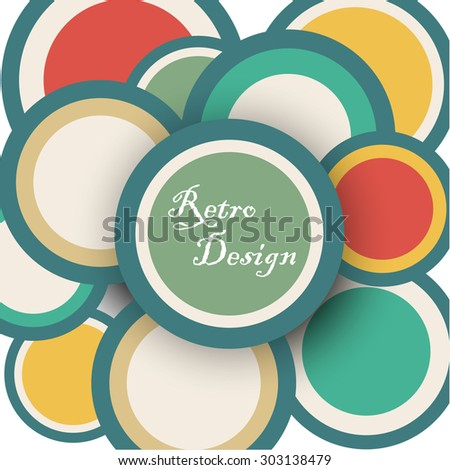 abstract composition, motley geometric print,  rings texture, screen saver,  round ornament,  display background pattern, EPS 10 vector illustration - stock vector
