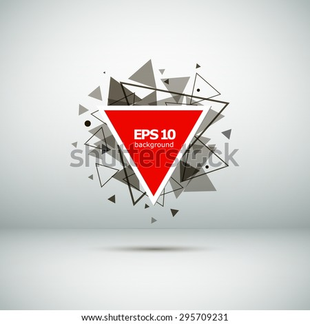Abstract composition of triangles, red, background | EPS10 vector illustration - stock vector