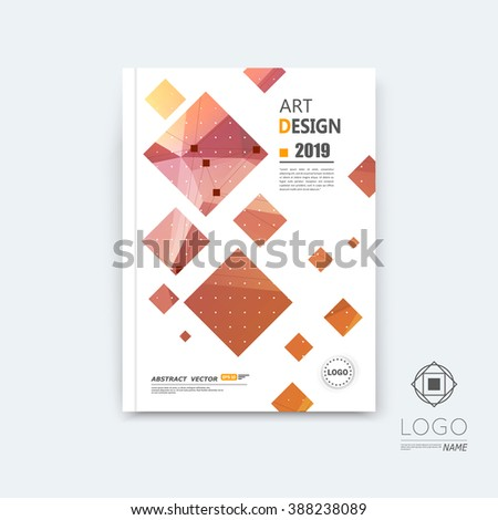 Abstract composition, pink quadrate font texture, square part construction, white a4 brochure title sheet, creative tetragon figure icon, commercial logo surface, firm banner form, EPS10 flier fiber - stock vector