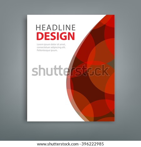 Abstract composition red bokeh round figure icon, brochure title sheet. White color version. EPS10 illustration. For your next business project, annual report and presentation. - stock vector