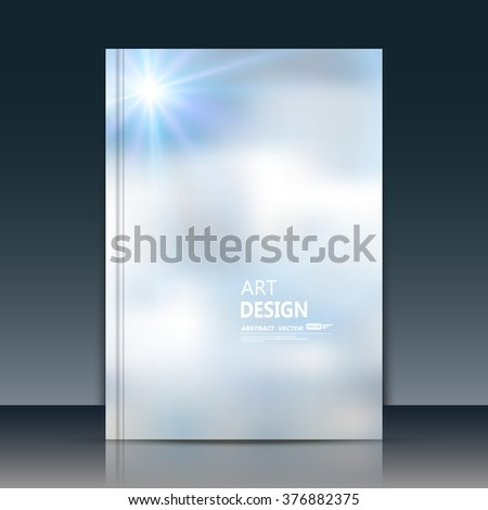 Abstract composition, sky clouds font texture, blue a4 brochure title sheet, creative figure, logo banner form, silver space star shine, flyer fiber, cosmic light rays elegant surface, EPS10 backdrop - stock vector