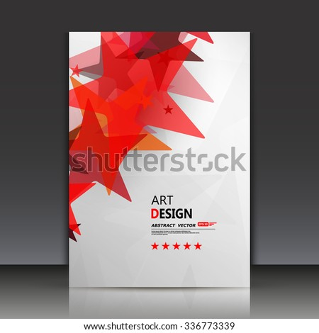 Abstract composition, star icon, red constillation, certificate font, a4 brochure title sheet, logo symbol backdrop, firm sign construction, business card surface, fashionable texture, EPS10 vector - stock vector