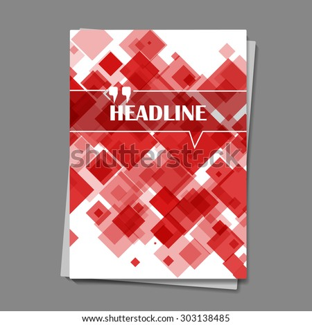 abstract composition, vermilion lozenge geometric print, red lines texture, brochure, scarlet square ornament, incarnadine background pattern, EPS 10 vector illustration - stock vector