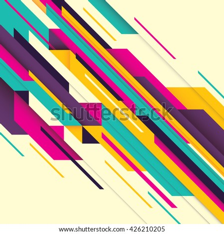 Abstract composition with geometric design. Vector illustration. - stock vector