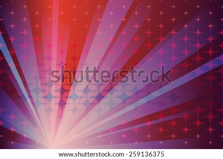Abstract composition with spots and lines - stock vector