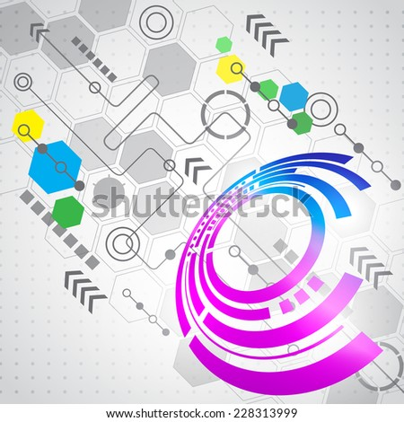 Abstract computer technology business background, vector - stock vector