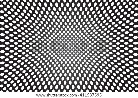 Abstract concave background. Vector art. - stock vector