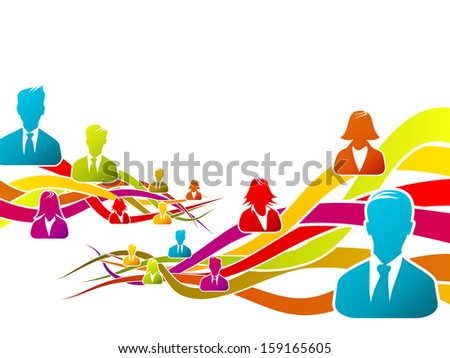 Abstract concept about business people vector illustration  - stock vector