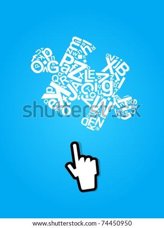 Abstract concept creative design with puzzle  and mouse - stock vector