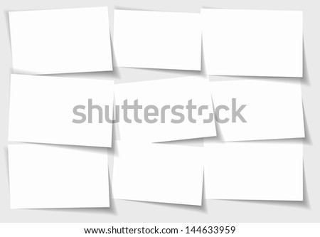 Abstract concept of separated note papers background - vector illustration - stock vector