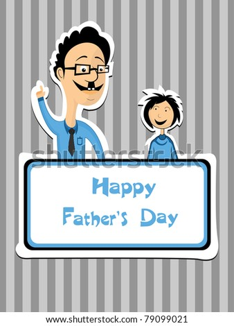 abstract conceptual background for father's day - stock vector