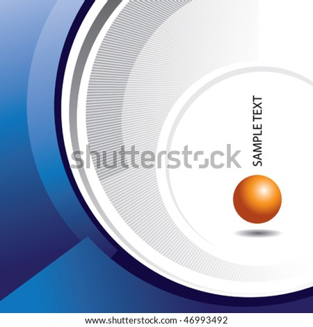 Abstract conceptual design. Vector illustration. - stock vector
