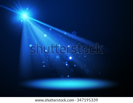 Abstract Concert Lighting with Magic Particles. Spotlight. Vector Illustration. - stock vector