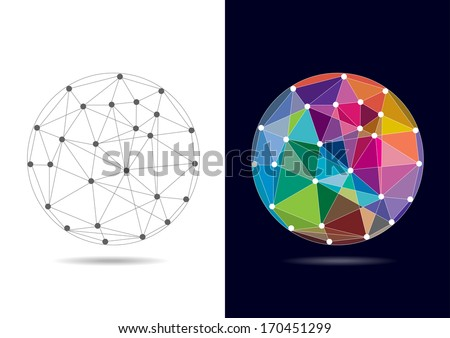 Abstract Connected Globe - Vector Illustration - stock vector