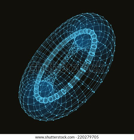Abstract connection points and lines. Graphic design. 3d vector Illustration. Can be used for wallpaper, web page background, web banners. - stock vector