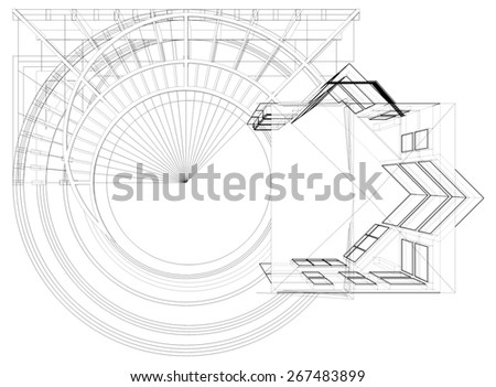 Abstract Constructions Of Line Vector 319 - stock vector