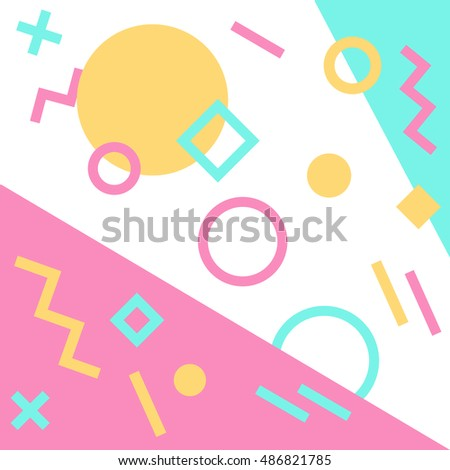 Abstract constructivism and cubism pattern. Hipster pattern. Trendy pastel cute background.
