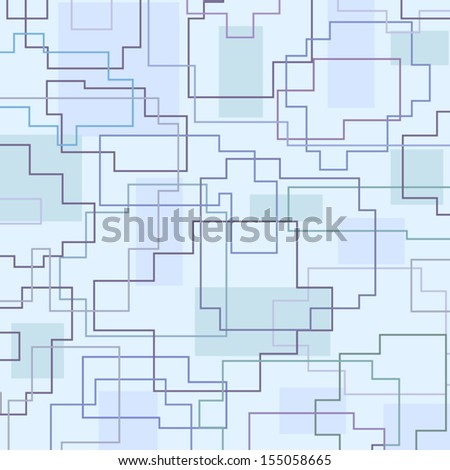 Abstract cool blue geometric background.