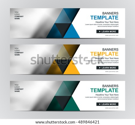 Abstract corporate business banner template web stock vector hd abstract corporate business banner template web banner or header templates wajeb Choice Image