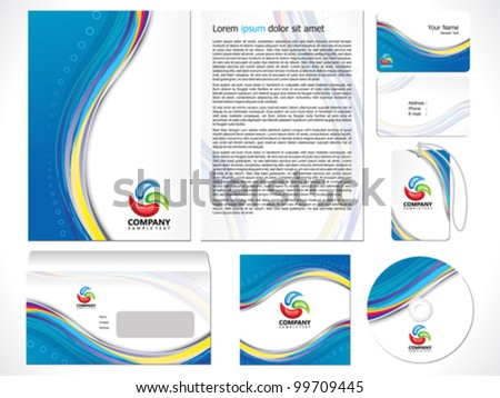 abstract corporate id template vector illustration - stock vector