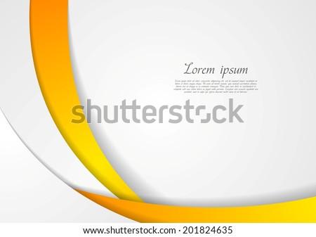 Abstract corporate wavy backdrop. Vector design - stock vector