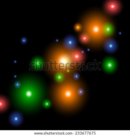 Abstract cosmic background. Vector image.