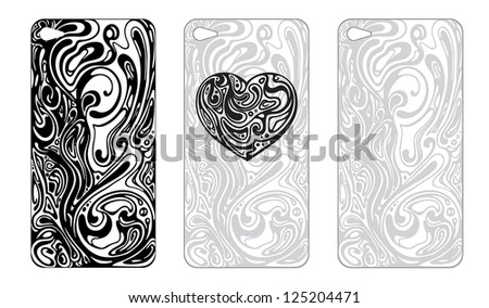 Abstract cover design for the phone's case - stock vector