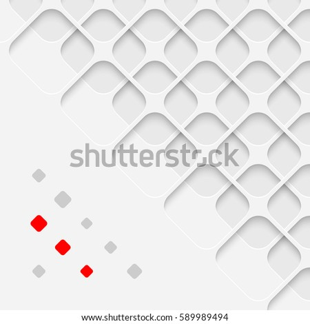 Vector Grid Wallpaper With Copy Space White Minimal Background