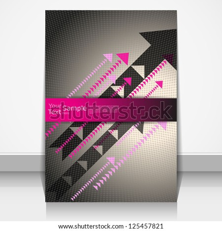 Abstract cover with colorful arrows. - stock vector