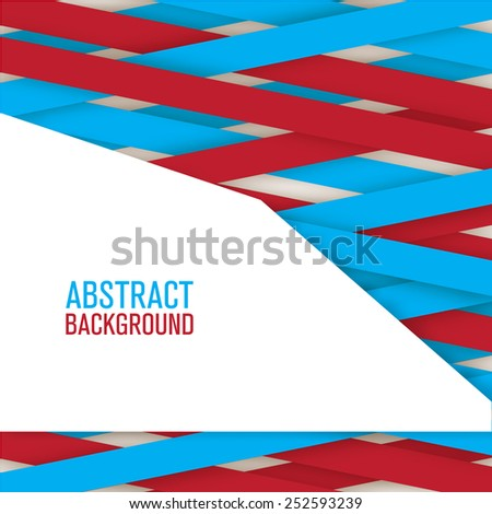 abstract creative and shadow paper lines isolated - stock vector