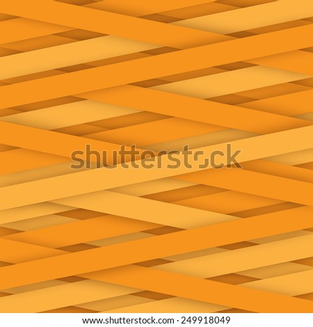 abstract creative and shadow paper lines yellow color - stock vector