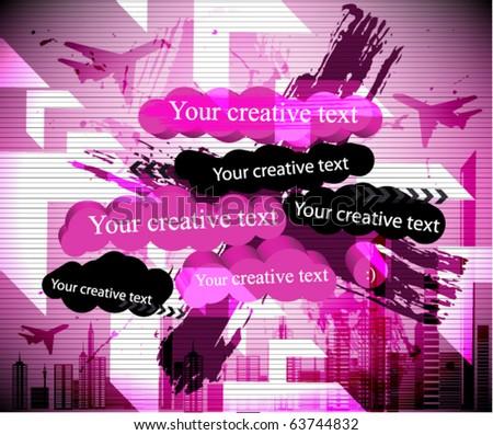 abstract creative banner - stock vector