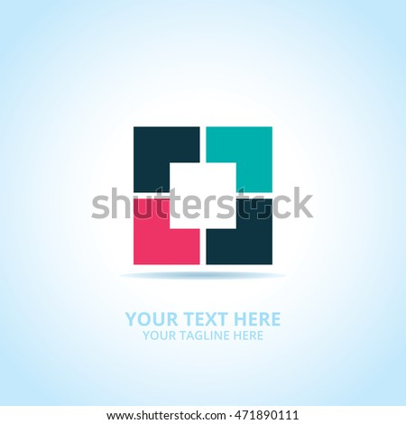 Abstract Creative Box logo, design concept, emblem, icon, logotype element for template.