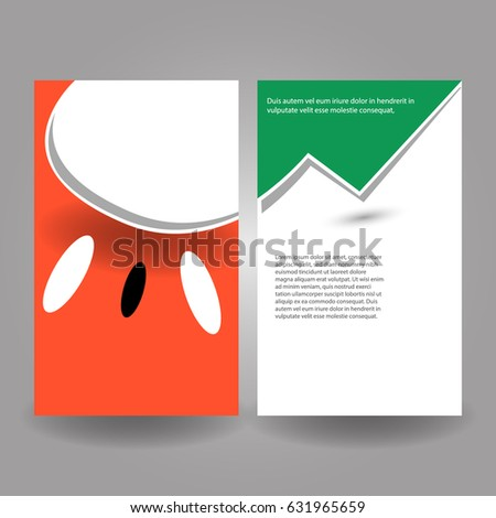 Abstract Creative Brochure / Flyer set with watermelon fruit and seeds and grass/leaf design. Composed in eps10 format, Vector Illustration.