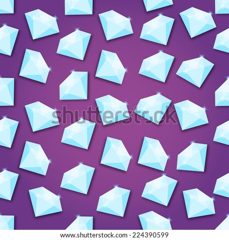 Abstract Creative concept vector background of diamond for Web and Mobile Applications, Illustration template design, business infographic, page, brochure, banner, presentation, poster, cover, booklet - stock vector