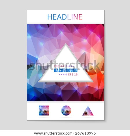 Abstract Creative concept vector booklet list for Web and Mobile Applications, art template design, business infographic card, color page, brochure leaf, cool banner, book, poster, cover, event flyer. - stock vector