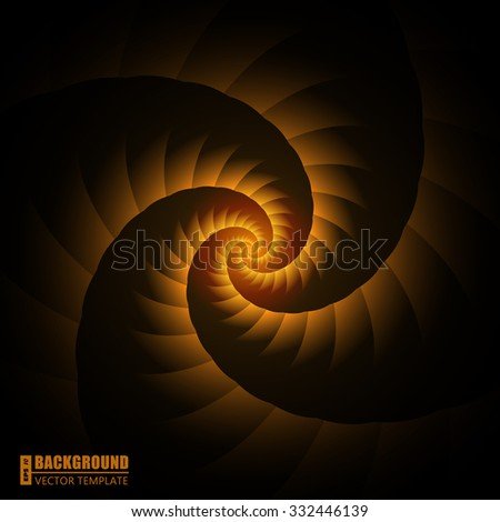 Abstract Creative concept vector bright spiral isolated on black background. For Web and Mobile Applications, art illustration template design, business infographic and social media, modern decoration - stock vector